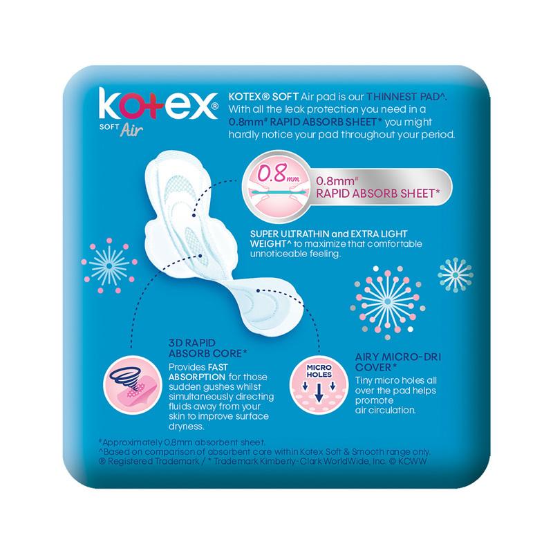 Kotex Air Super Ultrathin Day 23cm, 18pcs