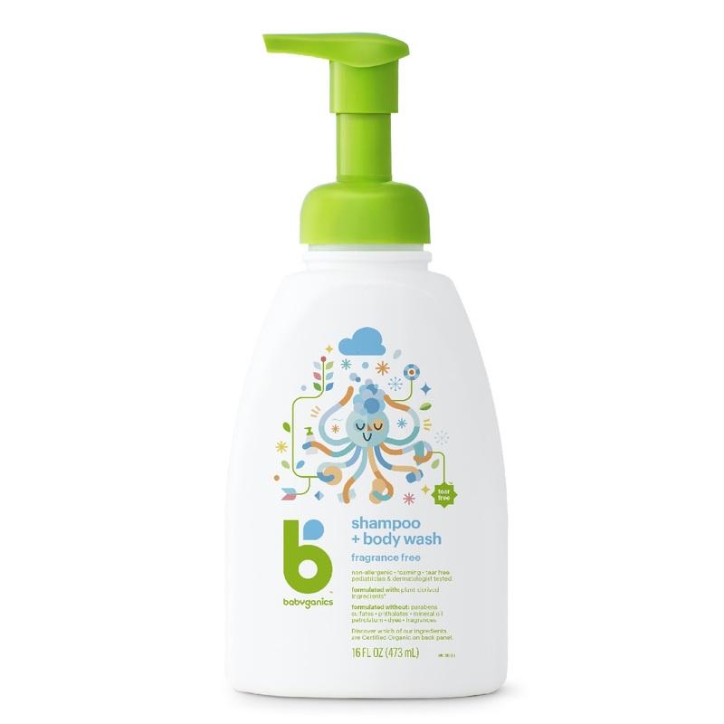 Babyganics Shampoo&Body Wash (Fragrance Free) 473mL