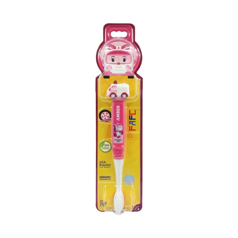 FAFC Robocar Poli Kids Toothbrush - Amber Figurine