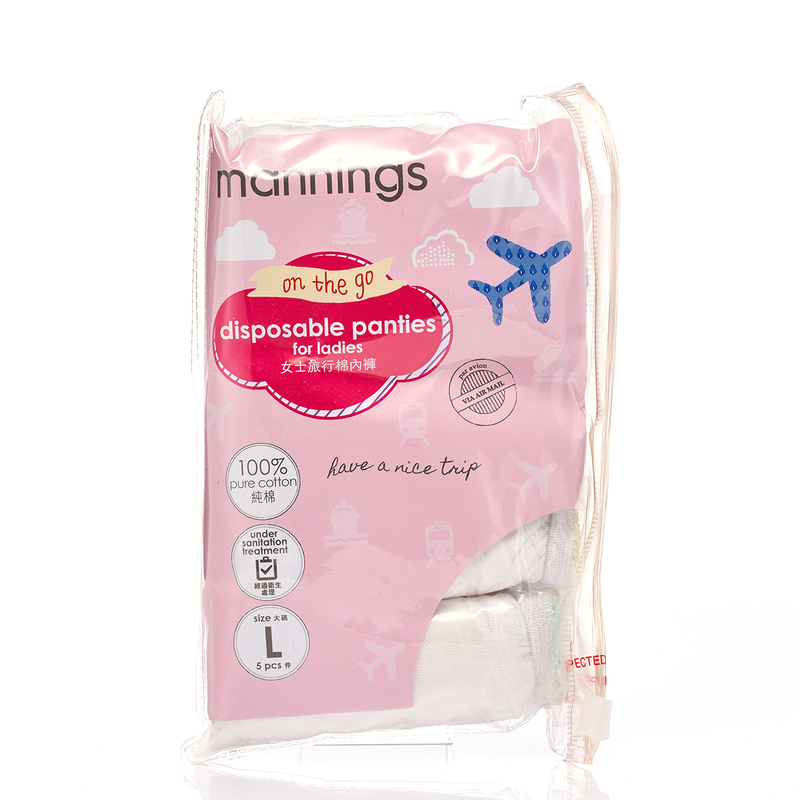 Mannings Ladies Disposable Panty L 5pcs