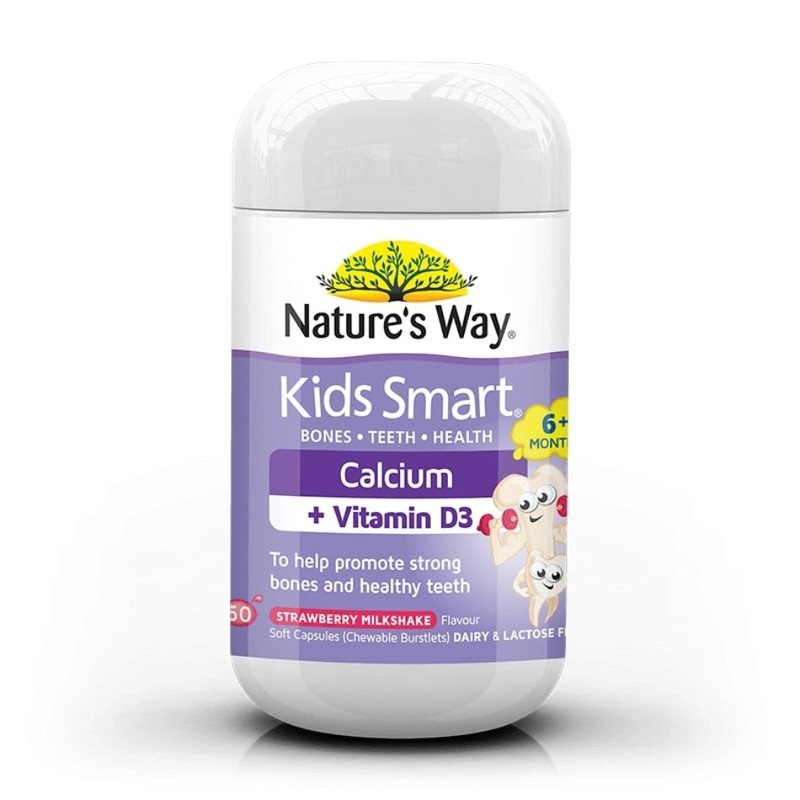 Nature's Way Kids Smart Calcium + Vitamin D3, 50 capsules