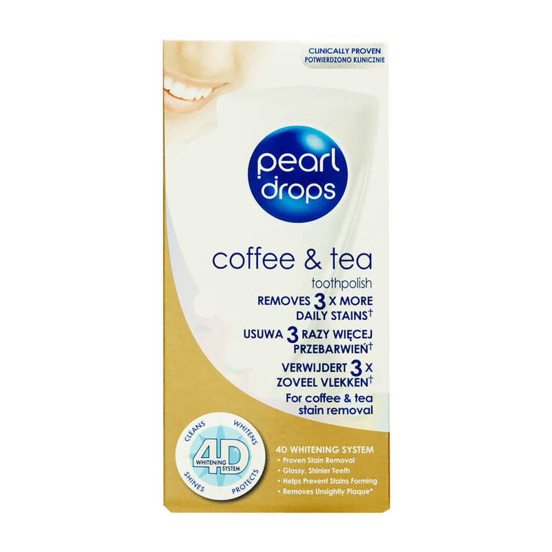 Pearl Drops Coffee & Tea 4D System Toothpolish, 50ml