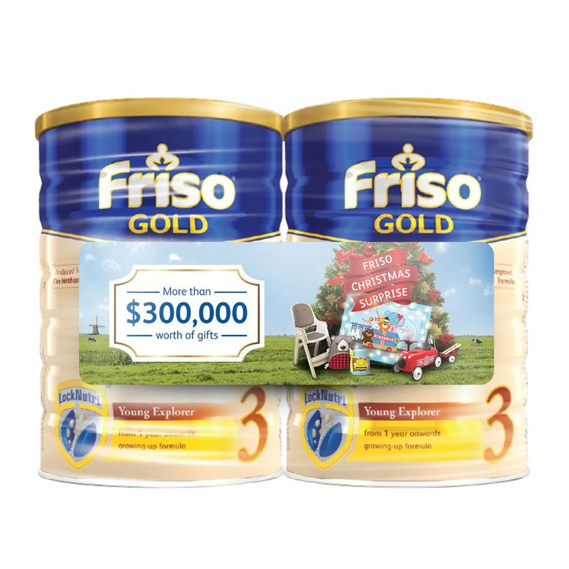 Friso Gold Stage 3 Scratch and Win Twin Pack, 2x1.8 kg  + Scatch Card