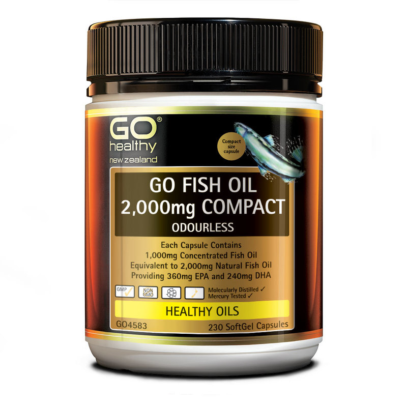 GO Healthy Fish Oil 2000mg, 230 capsules