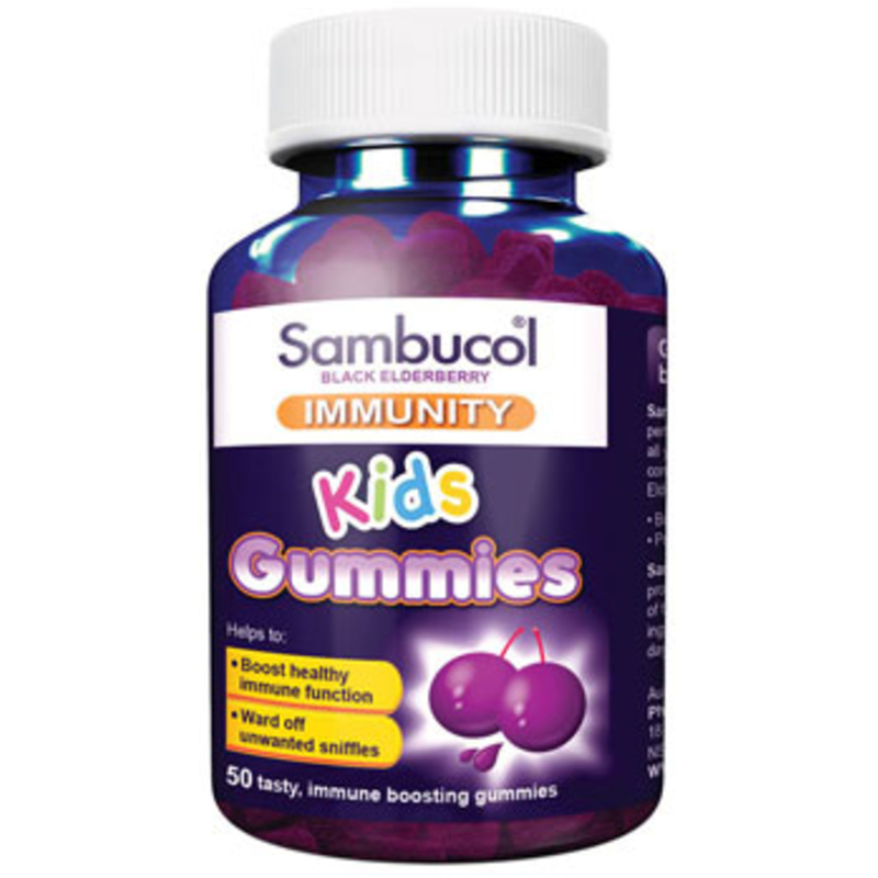 Sambucol Kids Immunity Gummies (AUS Version), 50 gums.