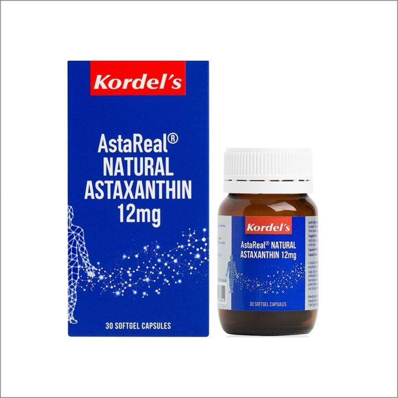 Kordel's AstaReal Natural Astaxanthin 12mg, 30 capsules