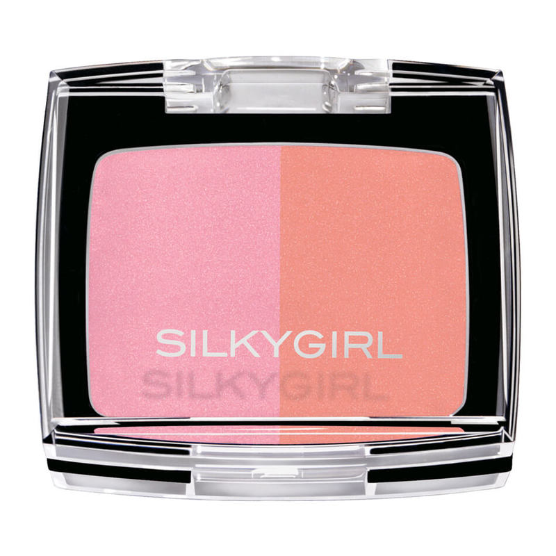 SilkyGirl  Shimmer Duo Blusher - 01 Cheeky Peach 4g