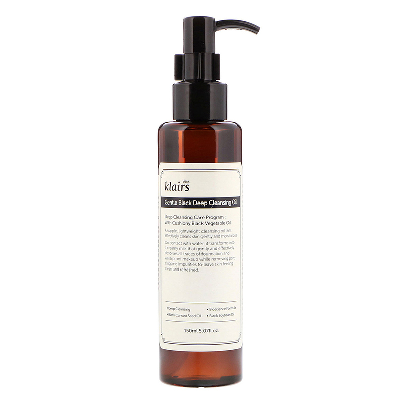 Dear, Klairs Gentle Black Deep Cleansing Oil, 150ml