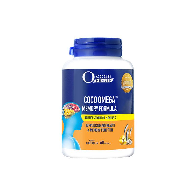 Ocean Health Coco Omega Memory Formula, 60 softgels