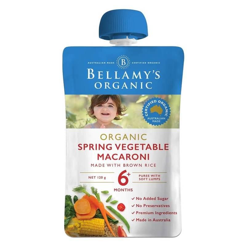 Bellamy's Organic Spring Vegetable  Macaroni, 110g