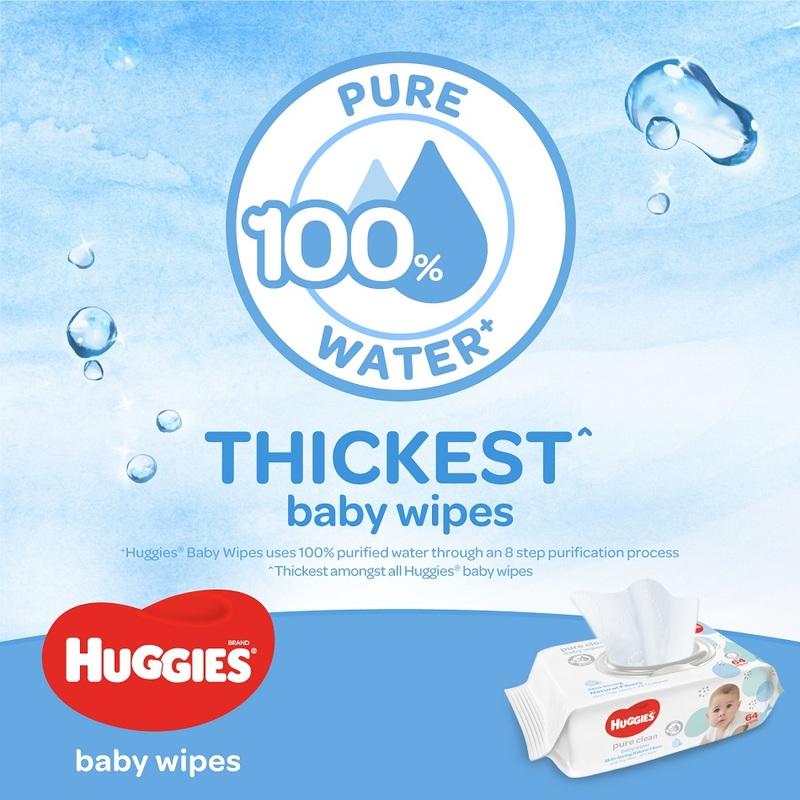 Huggies Pure Clean Baby Wipes Triple Pack, 3x64s