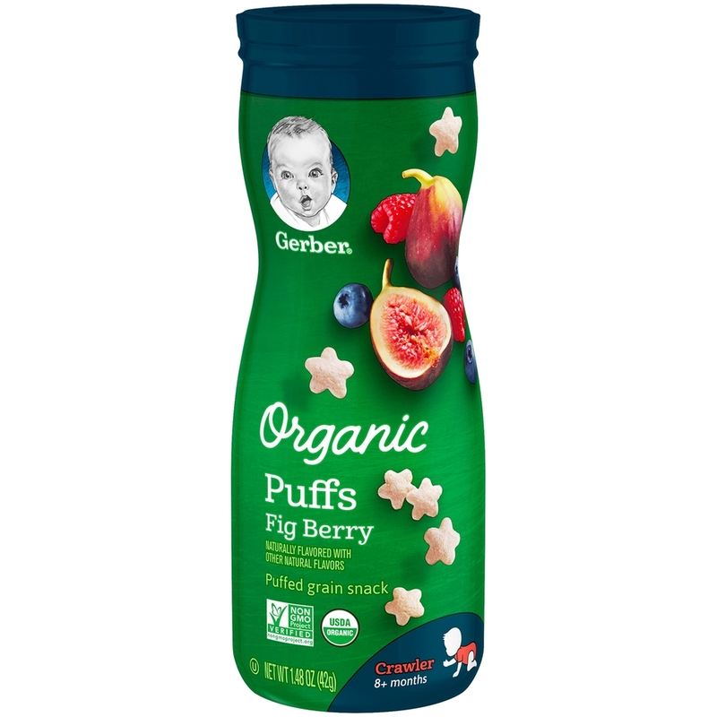 Gerber Organic Puffs Fig Berry, 42g