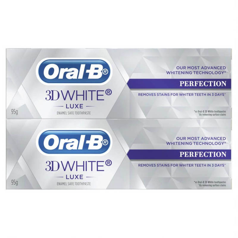 Oral-B 3D White Luxe Perfection Toothpaste Twin Pack, 2x95g