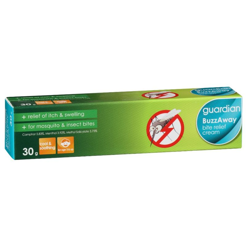 Guardian BuzzAway Bite Relief Cream, 30g