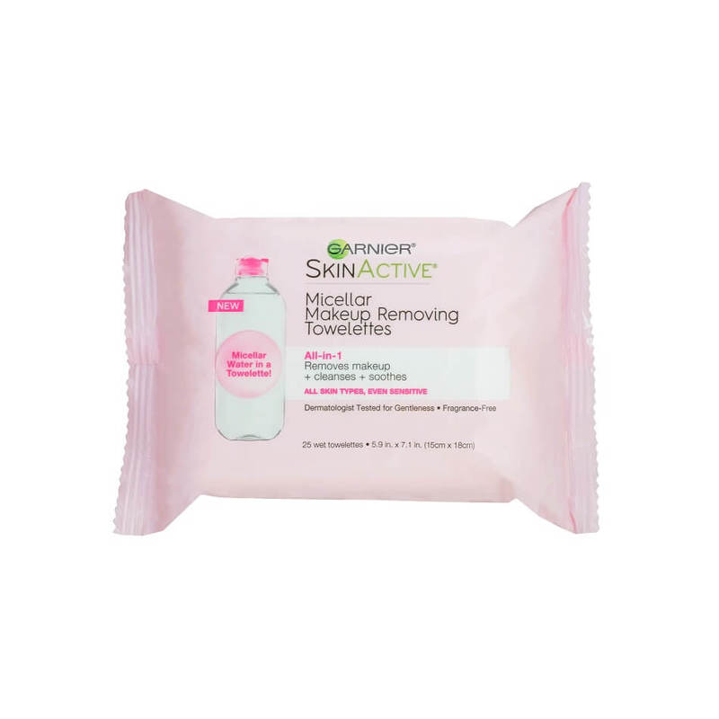 Garnier Skin Active All in 1 Micellar Wipes, 25pcs
