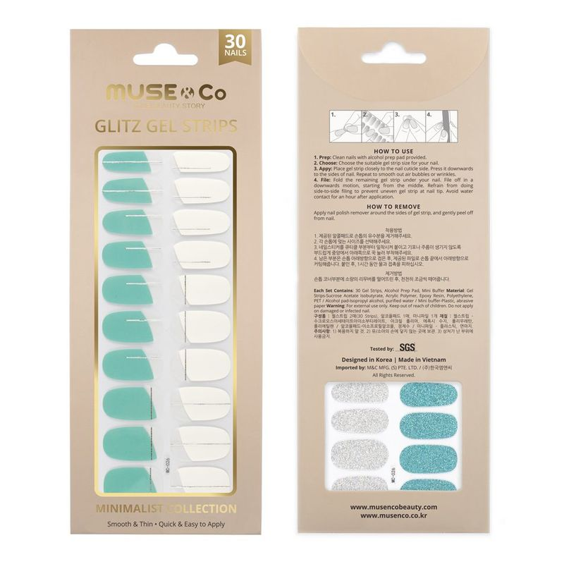 MUSE & Co - Glitz Gel Strips - The Fine Line