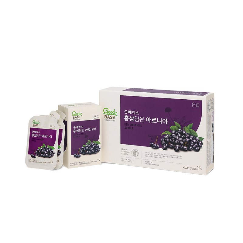 Cheong Kwan Jang  Goodbase Korean Red Ginseng with Aronia 50ml x 30pouches