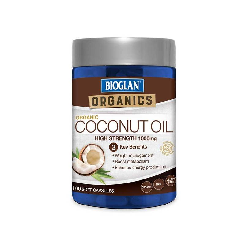 Bioglan Superfood Coconut Oil Capsules, 100 capsules
