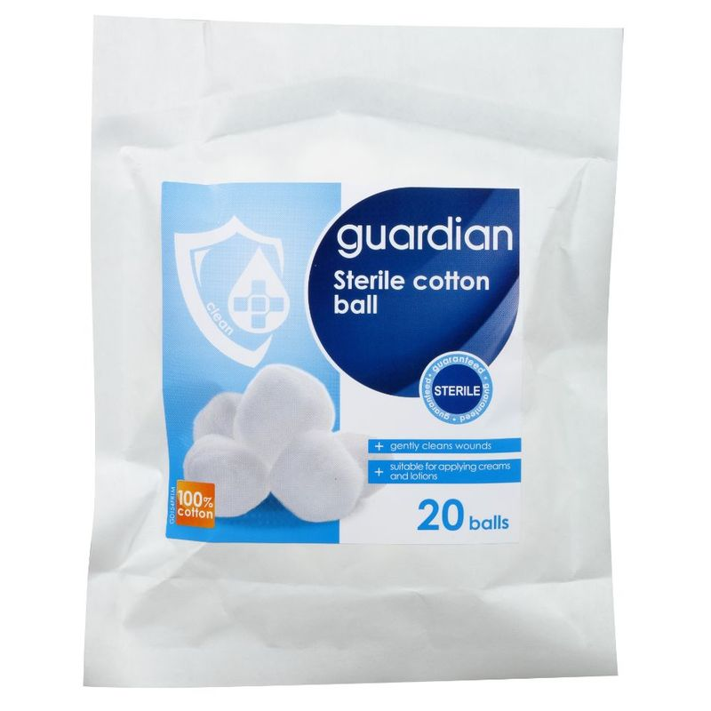 Guardian Sterile Cotton Wool Ball, 20pcs