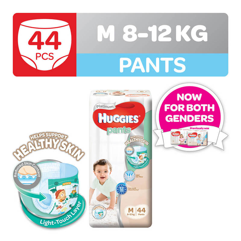 Huggies Platinum Pants (M) 44pcs