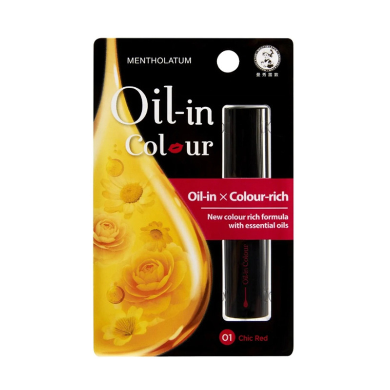 Mentholatum Oil-In-Color Lip Balm Chic Red