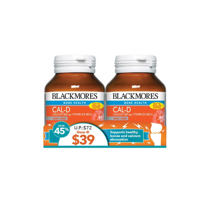 Blackmores Cal-D Bone Health Twin Pack, 2x100 tablets