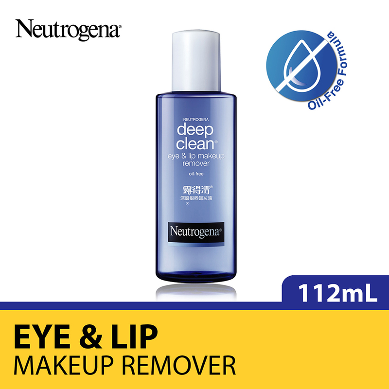 Neutrogena Deep Clean Lip & Eye Make Up Remover, 112ml