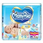 Mamy Poko Extra Dry Diaper New Born, 80pcs