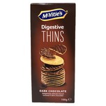 McVitie's Digestive Thins Dark Chocolate 100g