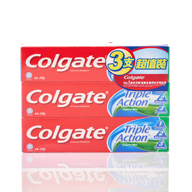 Colgate Triple Action Toothpaste 200gx3