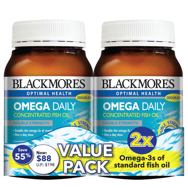 Blackmores Omega Daily Twin Pack, 2x200 capsules