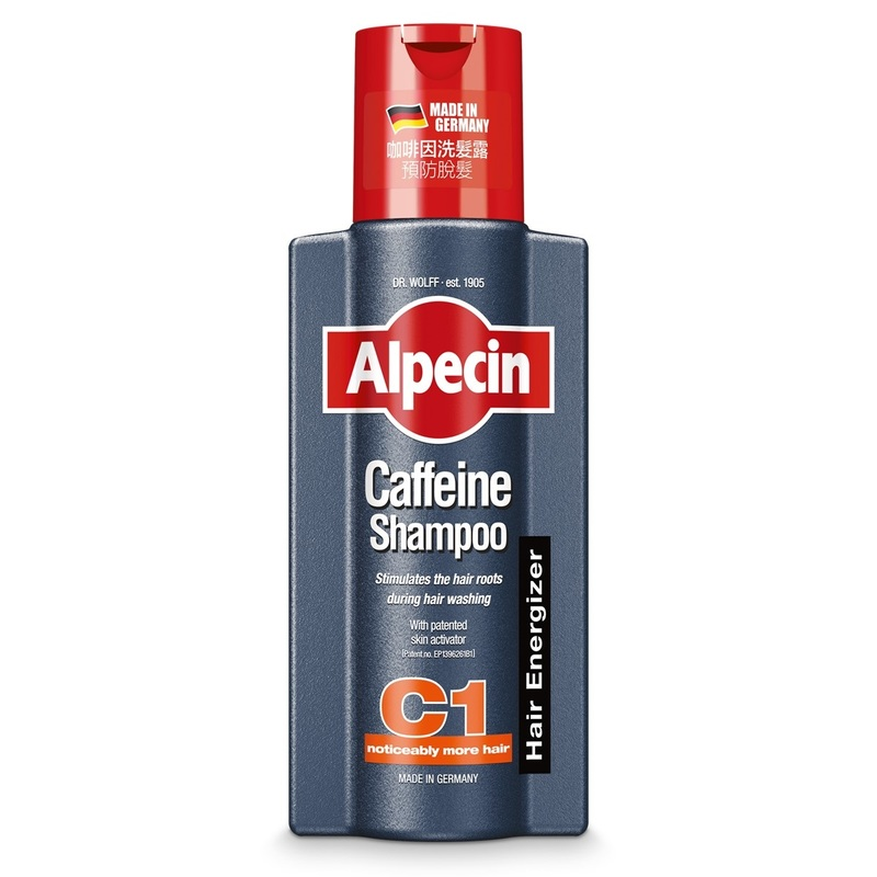 Alpecin Caffeine Shampoo C1 – Strengthens hair growth and reduces hair loss, for men 250mL