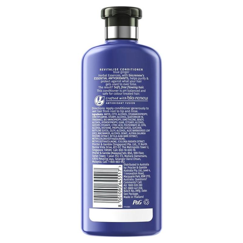 Herbal Essences REVITALIZE Blue Ginger Conditioner, 400ml