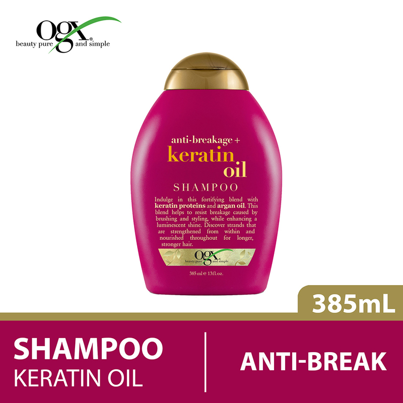 Ogx Anti-Breakage Keratin Oil Shampoo, 385ml