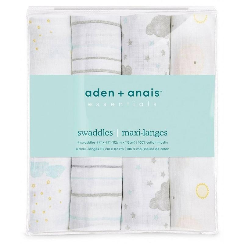 Aden+Anais Swaddle Plus (Partly Sunny) 4pcs   Aden+Anais ...