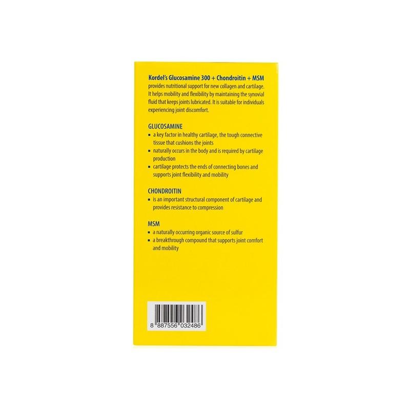 Kordel's Glucosamine 300 + Chondroitin + MSM 100s