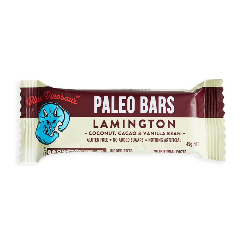 Blue Dinosaur Lamington Paleo Bar, 45g