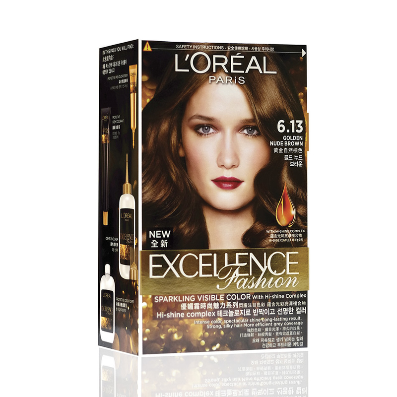 L'Oreal Excellence Fashion Colour 6.13 Golden Nude Brown