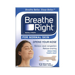 Breathe Right Nasal Strips Tan Regular, 12pcs