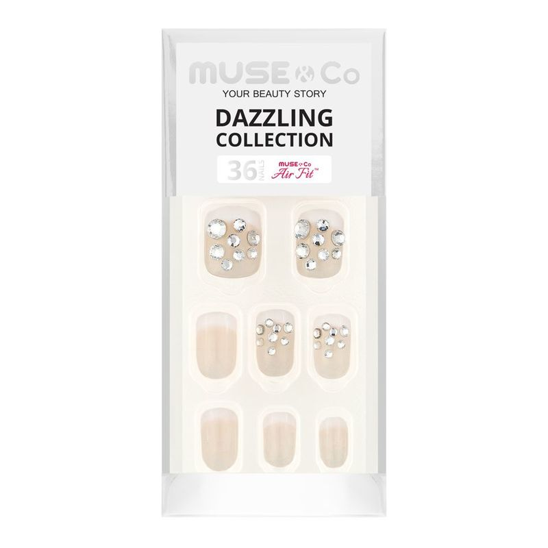 MUSE & Co Dazzling Collection 36 Nails, French Sparkle