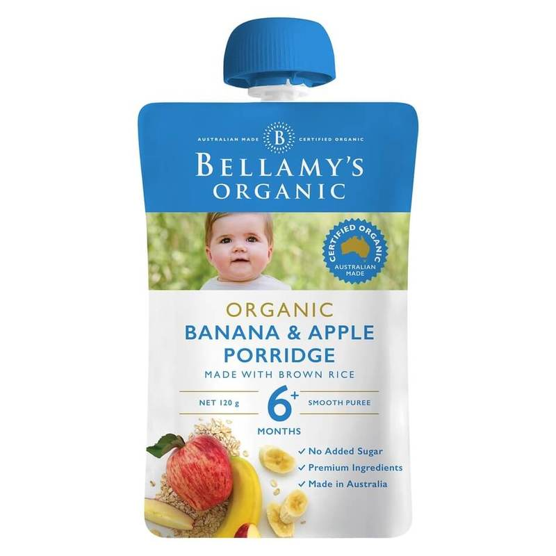 Bellamy's Organic Banana Apple Porridge Pouch, 120g