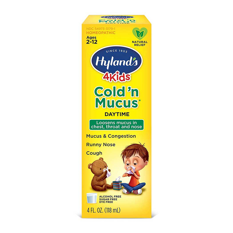 Hyland's 4Kids Cold 'n Mucus Daytime (Ages 2-12) 118ml