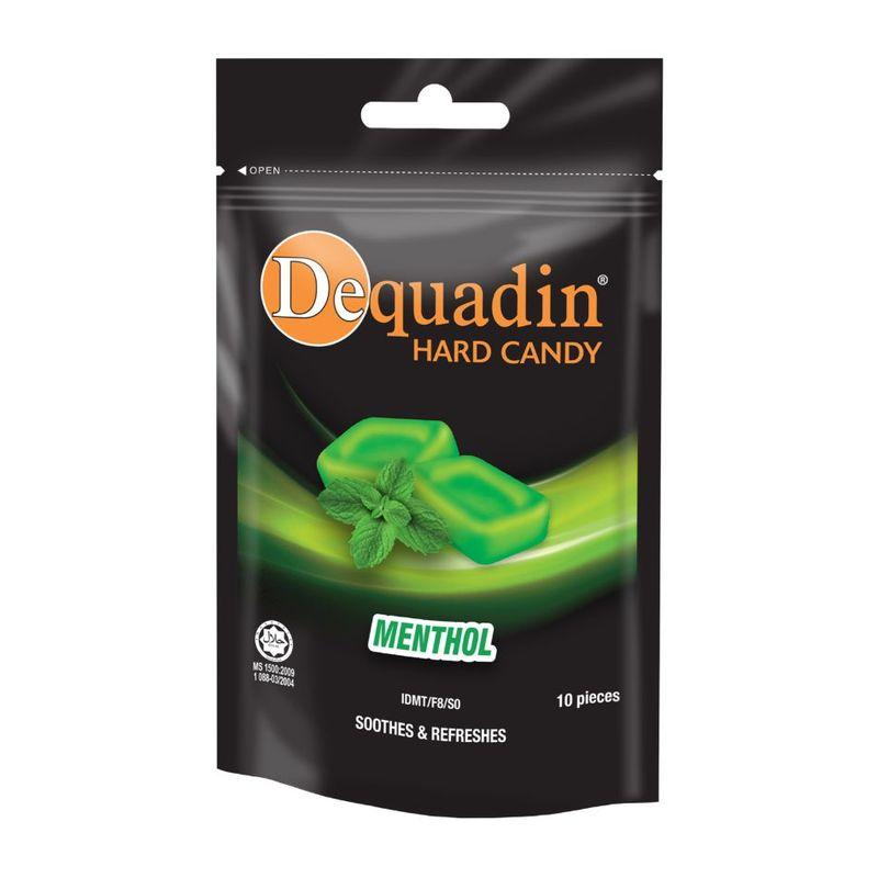 Dequadin Hard Candy Menthol 38g Zipper Bag