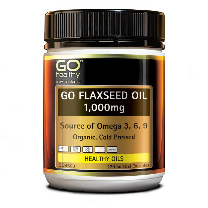 GO Healthy Flaxseed Oil 1000mg, 220 capsules