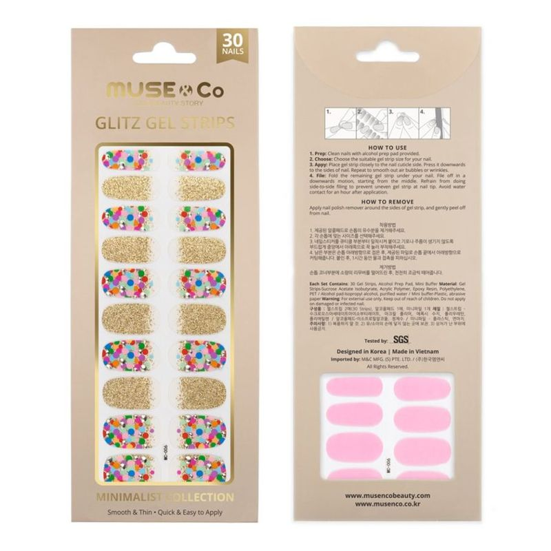 MUSE & Co - Glitz Gel Strips - Rising Balloon