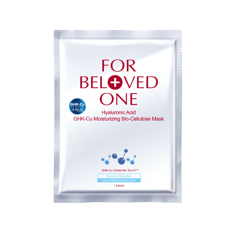 For Beloved OneHyaluronic Acid Ghk-Cu Moisturizing Bio-Cellulose Mask 3pc