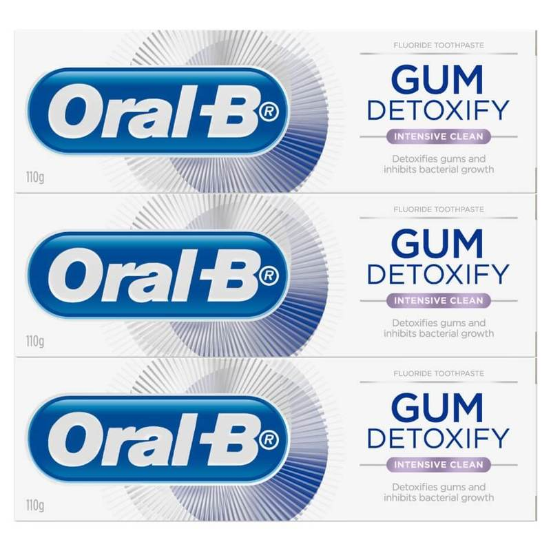 Oral-B Gum Detoxify Intensive Clean Toothpaste Triple Care, 3x110g