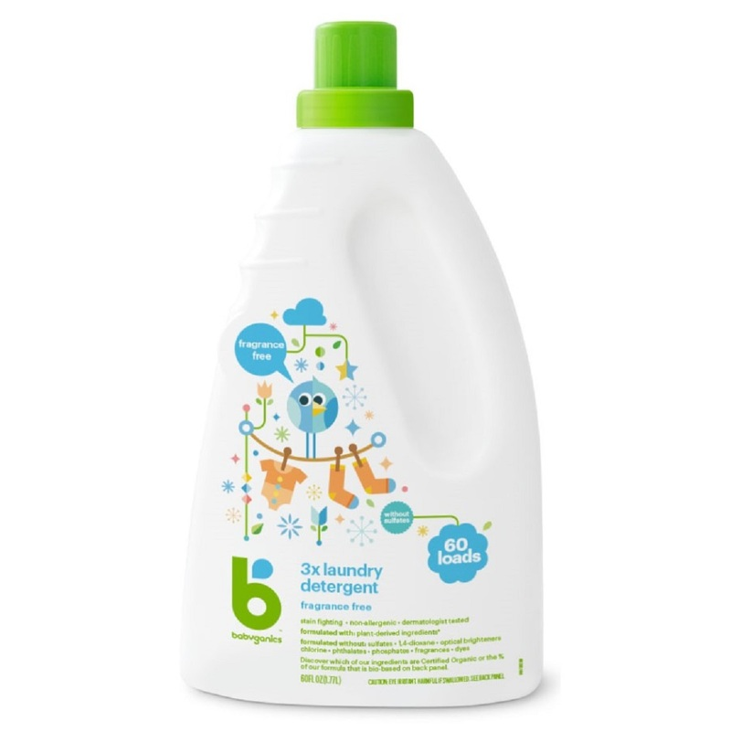 Babyganics Laundry Detergent (Fragrance Free) 1770mL
