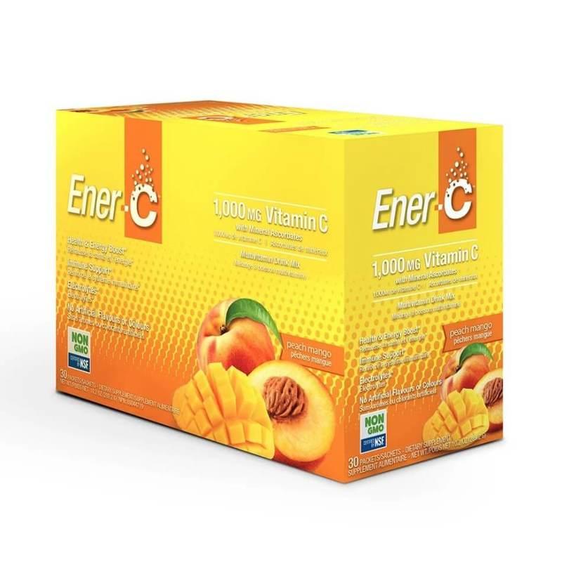 Ener-C Vitamin C Effervescent Powdered Drink Mix Peach Mango 30 packets