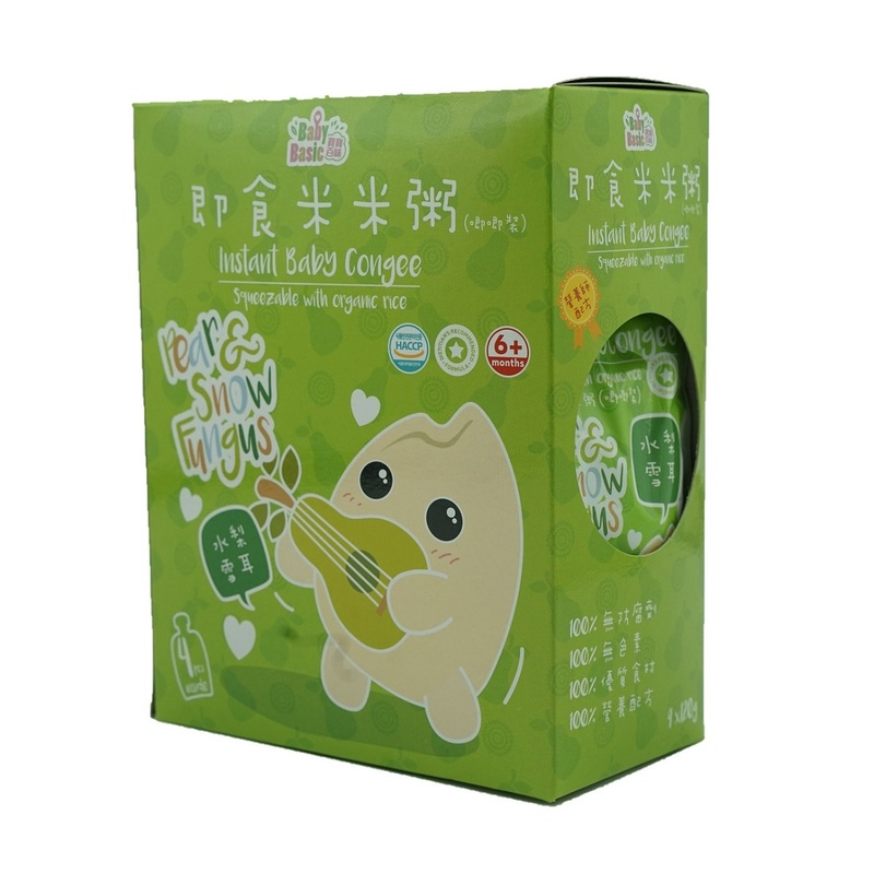 Baby Basic Congee - Squeeze Pouch (Pear & Snow Fungus) 120g x4